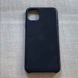 •Apple• IPhone 11 Pro Max Leather Case, Navy